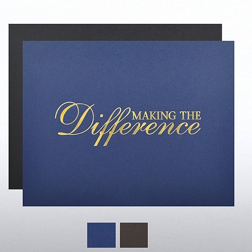 Making a Difference Foil Certificate Cover