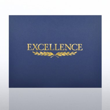 Foil Certificate Cover - Excellence Laurel