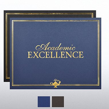 Foil Certificate Cover - Academic Excellence
