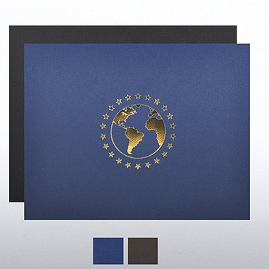 Foil Certificate Cover - World