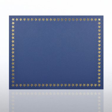 Foil Certificate Cover - Star Border