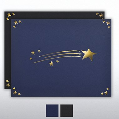 Certificate Cover - Gold Foil - Shooting Star