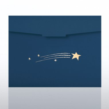 Certificate Folder - Blazing Star - Blue