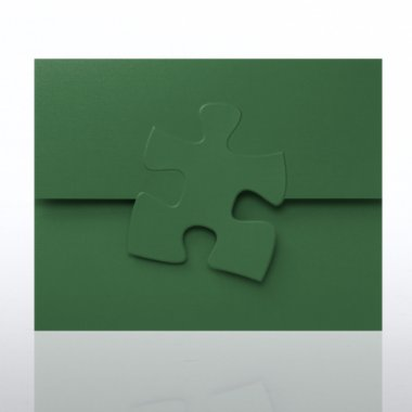 Certificate Folder - Embossed Essential Piece - Hunter Green