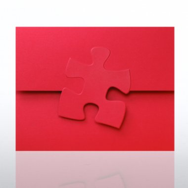 Certificate Folder - Embossed Essential Piece - Red