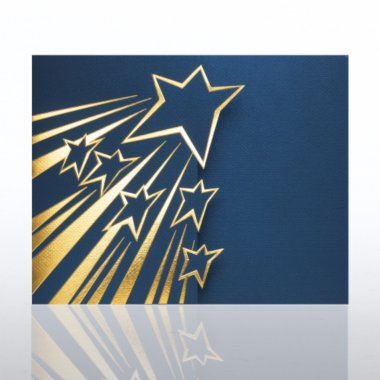Certificate Folder - Shooting Star Gatefold - Blue
