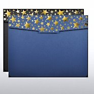 Foil-Stamped Certificate Folder - Starry Night