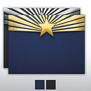 Foil-Stamped Embossed - Certificate Folder - Star Burst