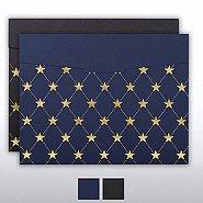 Foil-Stamped Certificate Folder - Star Quilt