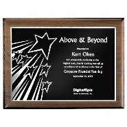 Walnut Plaque - Above & Beyond - Silver