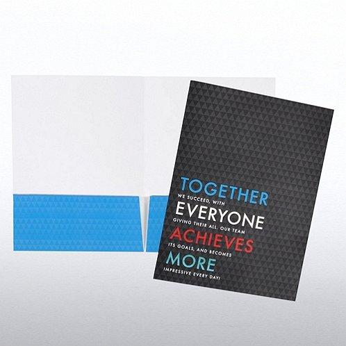 Together Everyone Achieves More Pocket Folder