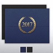 Foil-Stamped Certificate Folder - Laurels - 2017