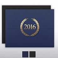 Foil-Stamped Certificate Folder - Laurels - 2016