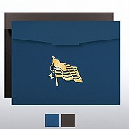 Flag Foil Certificate Folder