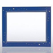 Leatherette Frame - Gold Foil Stars - Blue