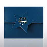 Certificate Folder - Star Flap - YMTD - Blue
