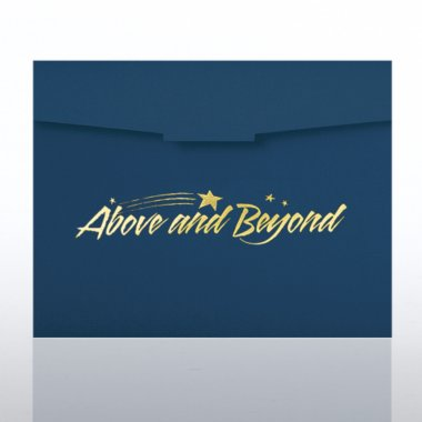 Certificate Folder - Above & Beyond - Blue