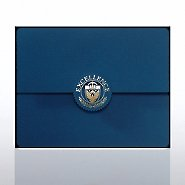 Excellence Seal Serrated Flap Foil Certificate Folder