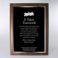 Character Award Plaque - Full-Size - Black w/ Silver