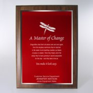 Character Award Plaque - Full-Size - Red w/ Silver