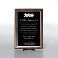 Character Award Plaque - Half-Size - Black w/ Silver