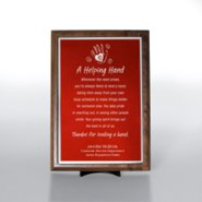 Character Award Plaque - Half-Size - Red w/ Silver