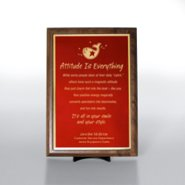 Character Award Plaque - Half-Size - Red w/ Gold