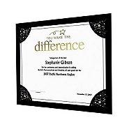 Praise Displays - Black - Silver Foil Swirl Stars