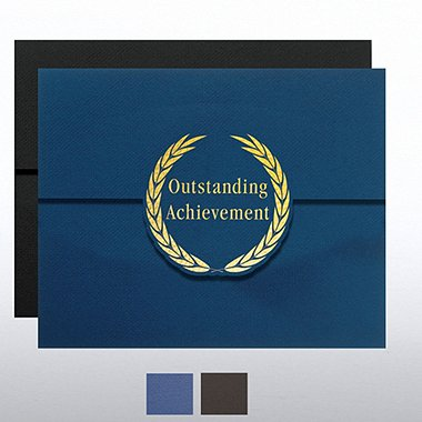 Outstanding Achievement Laurels Foil Certificate Folder