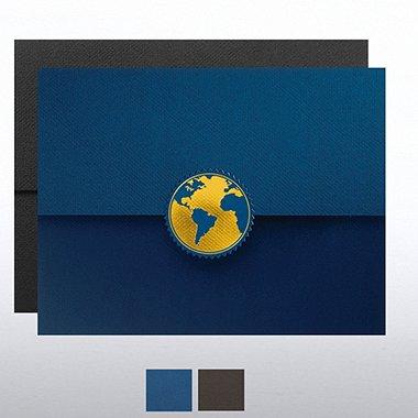 Globe Foil Certificate Folder