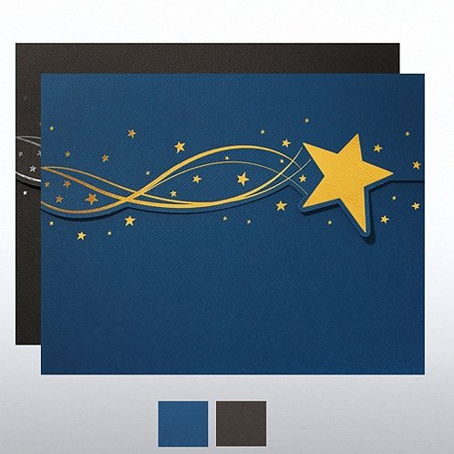 Magic Star Foil Certificate Folder