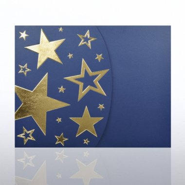 Foil-Stamped Embossed Certificate Folder - Bright Stars - BL
