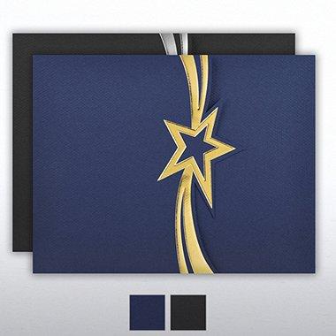 Foil-Stamped Embossed Folder - Star Streamer