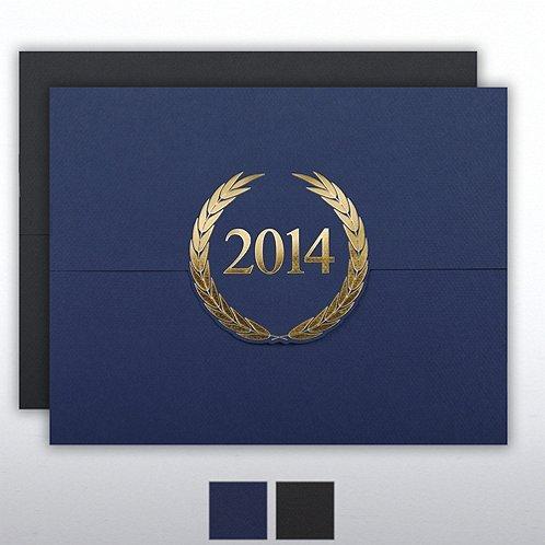 2014 Laurels Foil Stamped Certificate Folder