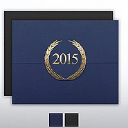 Foil-Stamped Certificate Folder - Laurels - 2015