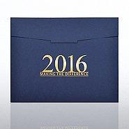 Foil-Stamped Certificate Folder - MAD - 2016 - Blue