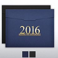 Foil-Stamped Certificate Folder - MAD - 2016