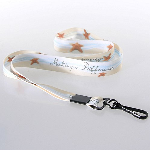 Starfish Making a Difference Themed Lanyard