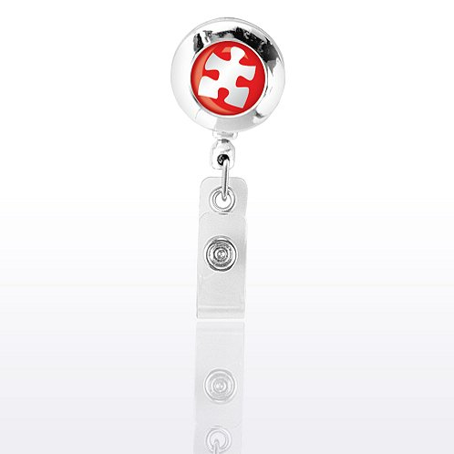 Chrome Essential Piece Themed Badge Reel