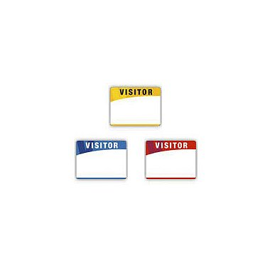 Adhesive Visitor Labels - Blank