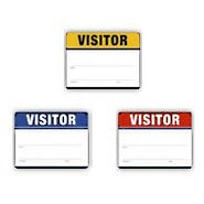 Adhesive Visitor Labels - Fill in the Blank