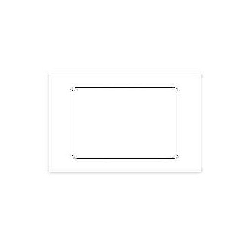 3 x 2 Blank White Adhesive Label