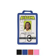 Vertical Silicone Badge Holder