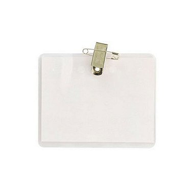 Badge Holder - 4 x 3 Horizontal - Pin/Clip