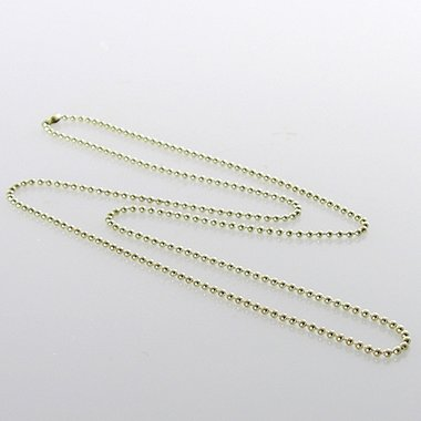 Beaded Neck Chain - Metallic - Gold