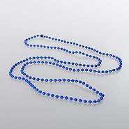 Beaded Neck Chain - Plastic - Blue