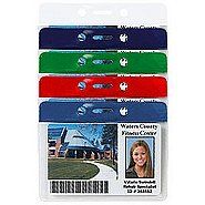 Colored Bar Badge Holders - Horizontal Credit Card