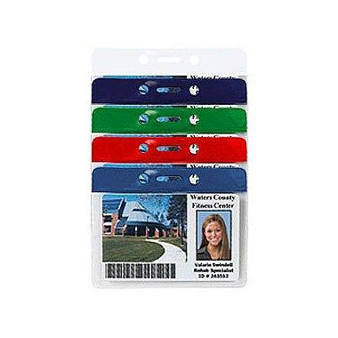 Colored Bar Badge Holders - Horizontal Credit Card