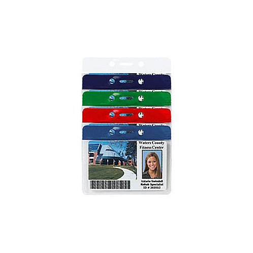 Horizontal Colored Bar Event Badge Holders