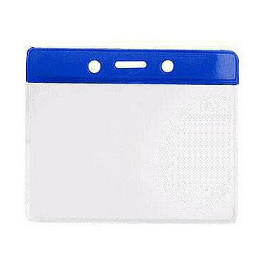 Colored Badge Holder - 4 x 3 Horizontal - Royal Blue
